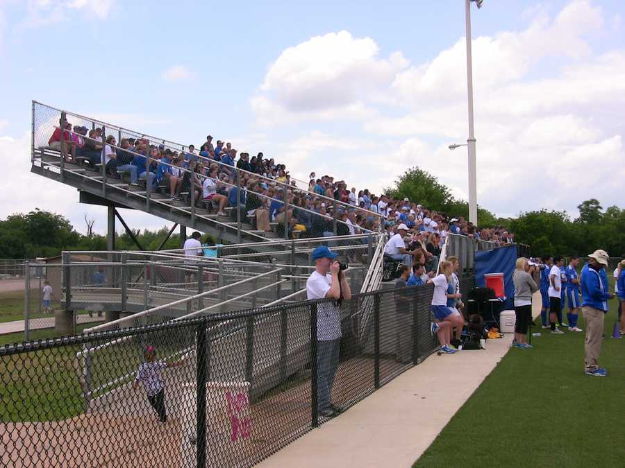 The Rockets had tremendous support as their fan packed the bleachers to watch the 4A championship final.