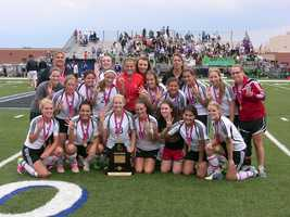 The 2012 4A girls soccer champions, the Verdigris Cardinals! Four-peat.