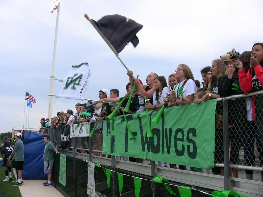 """The Norman North student section AKA the """"Wolfpack"""", was loud and proud for the championship game."""