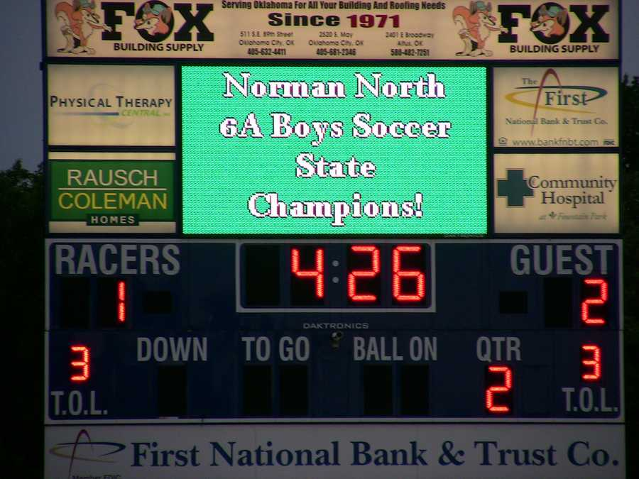 Norman North wins in overtime thanks to senior Brandon Little Axe. The Timberwolves came back from trailing 1-0 early in the first half to win 2-1.