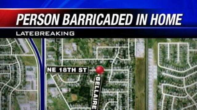 Police in Moore are at the scene of a standoff with a barricaded person near Northeast 18th Street and Bellaire Drive.
