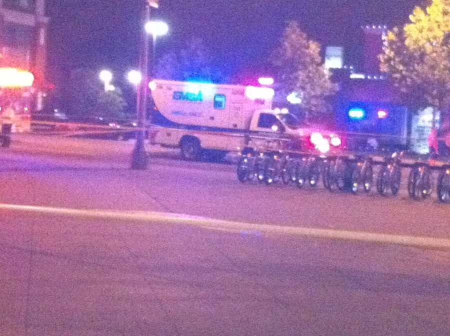 KOCO Eyewitness News 5's Carla Wade snapped these photos at the scene of a shooting in downtown Oklahoma City late Monday into early Tuesday.