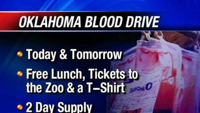 Before heading out of town for Memorial Day weekend the Oklahoma Blood Institute is hoping residents will consider making a donation.