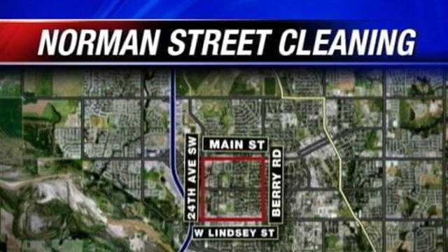 Norman is getting ready to clean up the streets. Officials are advising residents to move their cars.