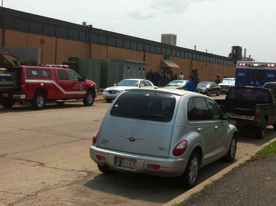 Fire and Hazmat crews were called to a northwest Oklahoma City company on Thursday in response to some kind of chemical reaction.