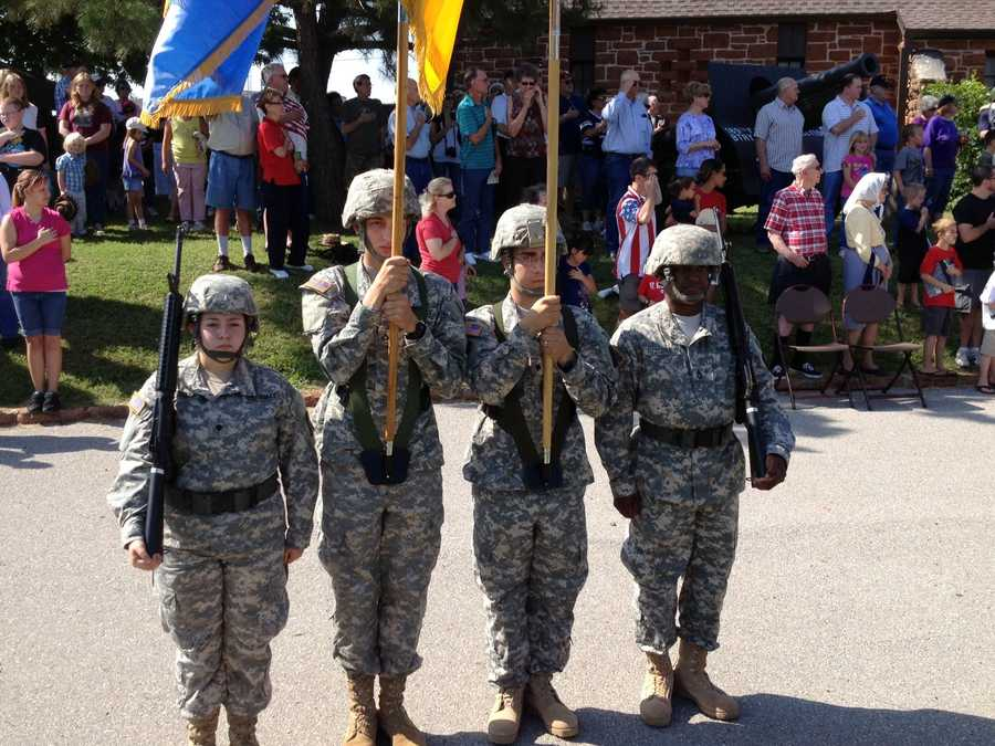 KOCO Eyewitness News 5's Michael Seiden took these photos at Monday's Memorial Day ceremony at the 45th Infantry Division Museum in northeast Oklahoma City.