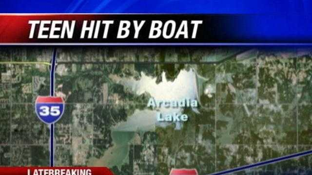 A teen is hit by a boat at arcadia lake.   KOCO's Michael Seiden reports.