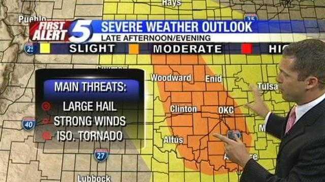 Meteorologist Damon Lane gives Wednesday's weather outlook.
