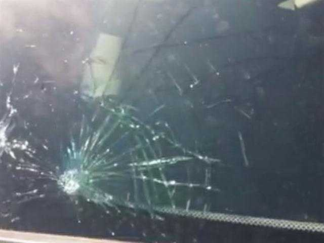 See video of damage to cars at the Edmond Hyundai dealership.