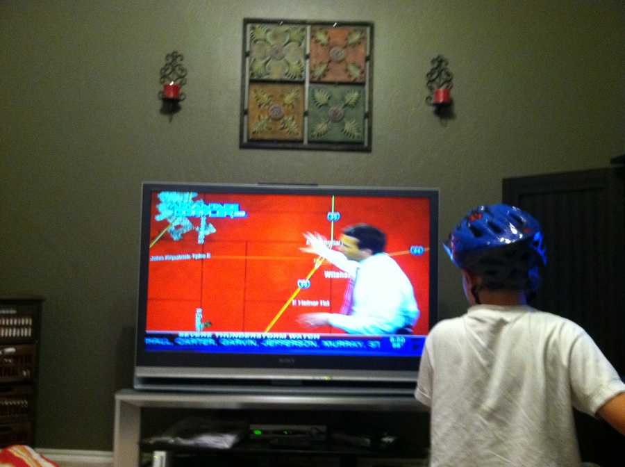And then KOCO viewer Jamie Austin sends us THIS photo of her son watching KOCO Chief Meteorologist Rick Mitchell. Love it! If you have some Rick's Pix for us to see, email them to ulocal@koco.com.