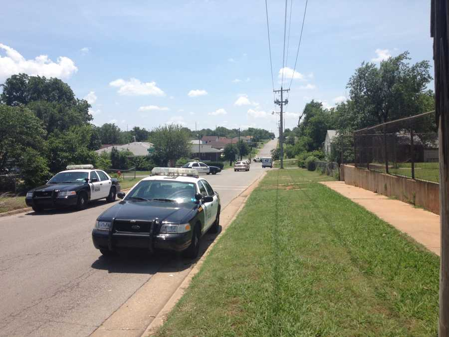 A man was shot in the face during the incident, police said.