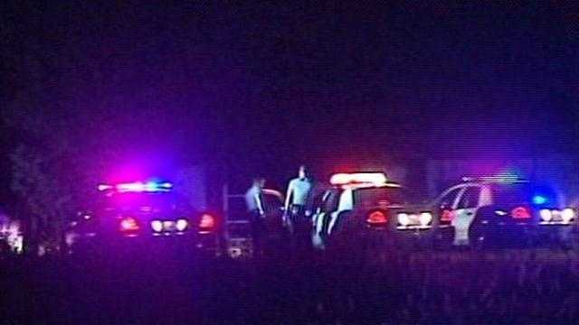 Oklahoma City police say a pursuit ended with a man hitting a police car head-on near southwest 119th and Walker.