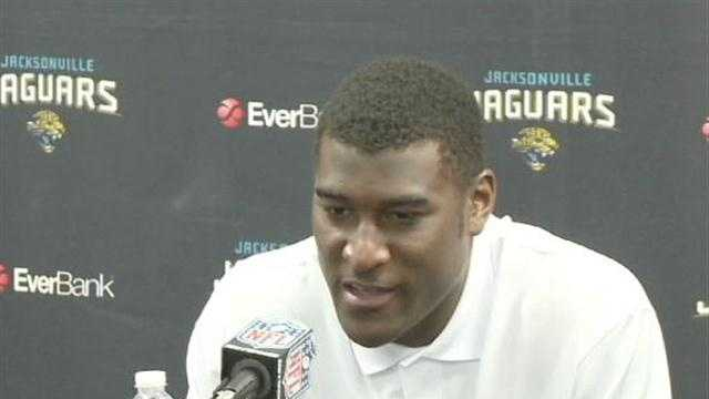 Days after being arrested on suspicion of DUI in Stillwater, Justin Blackmon held a news conference in Jacksonville to say he would stop drinking.