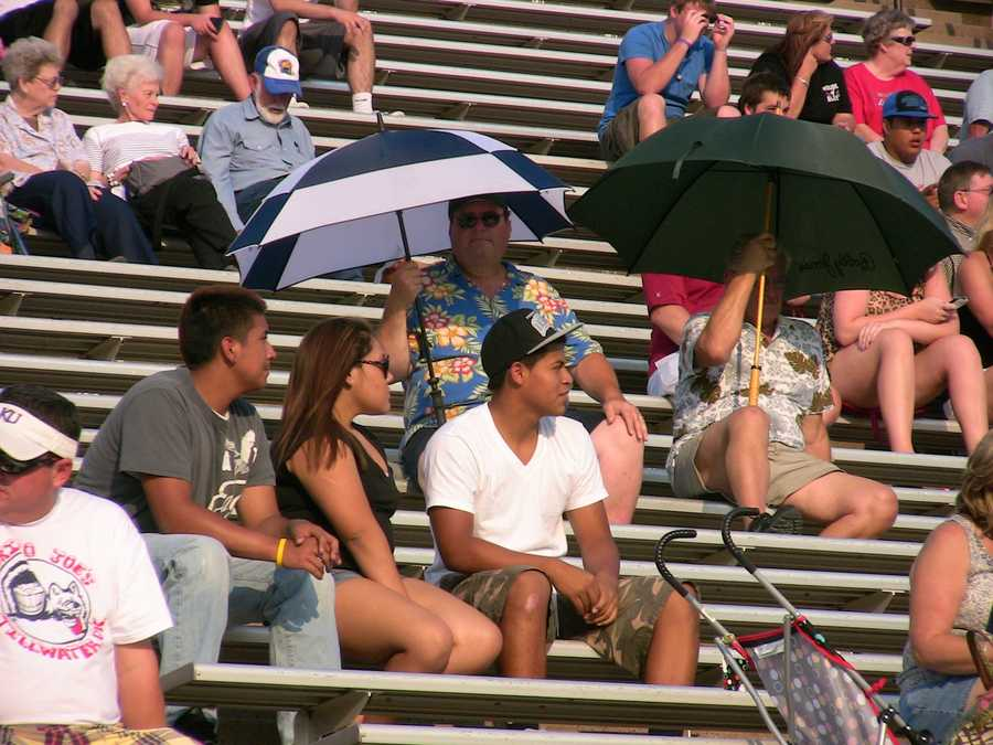 The Texas heat had attendees undercover at the 2012 Oil Bowl football game.