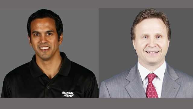 Erik Spoelstra and Scott Brooks are vying for their first NBA title. (NBA)