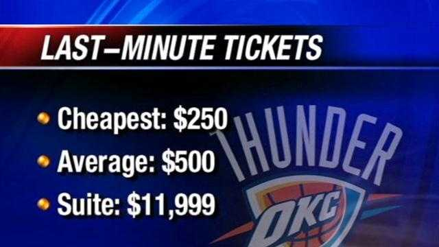 Fans lined up early for a chance to get tickets to tonight's NBA Finals matchup