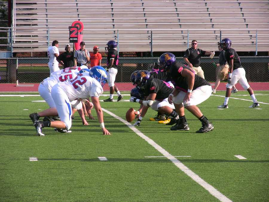The entire game saw the offensive and defensive lines punishing each other every down.