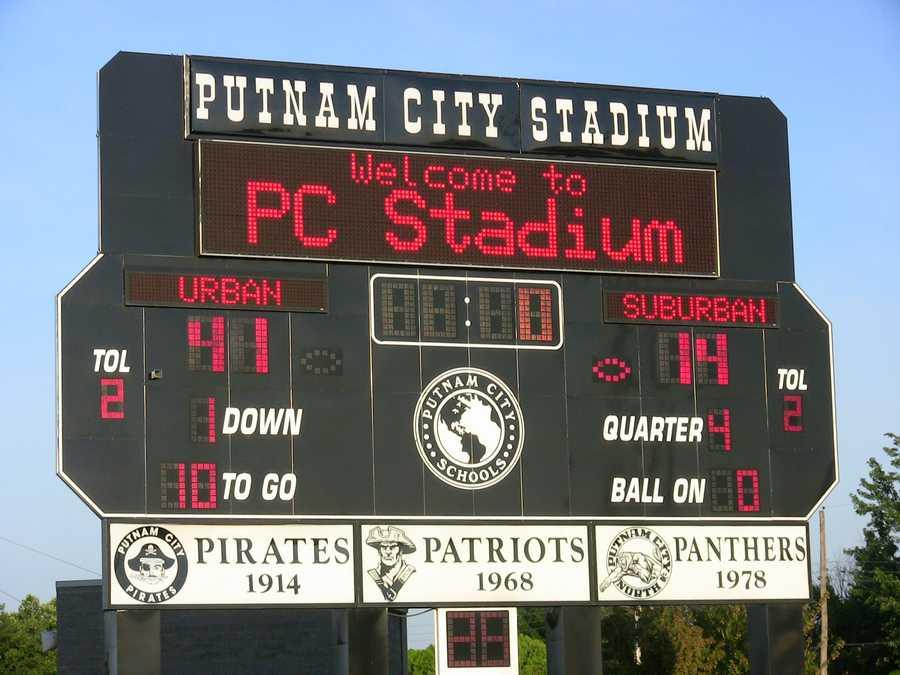 Urban wins 41-14 over the Suburban team.
