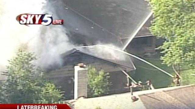 Fire crews were called to Nichols Hills on Tuesday afternoon because of a large blaze at a home in the 10000 block of Lancet Court.
