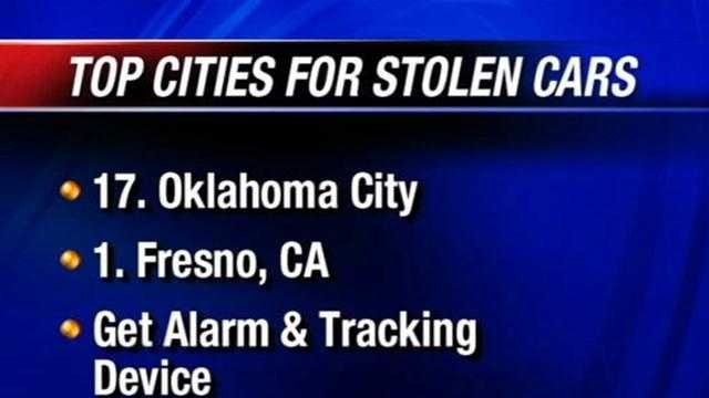 There is a new list of the cities with the most stolen cars and unfortunately, Oklahoma City is on it.