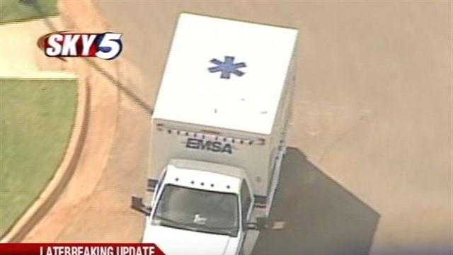 A 3-year-old was pulled from a back yard pool in northwest Oklahoma City. Sky5 was over the scene.