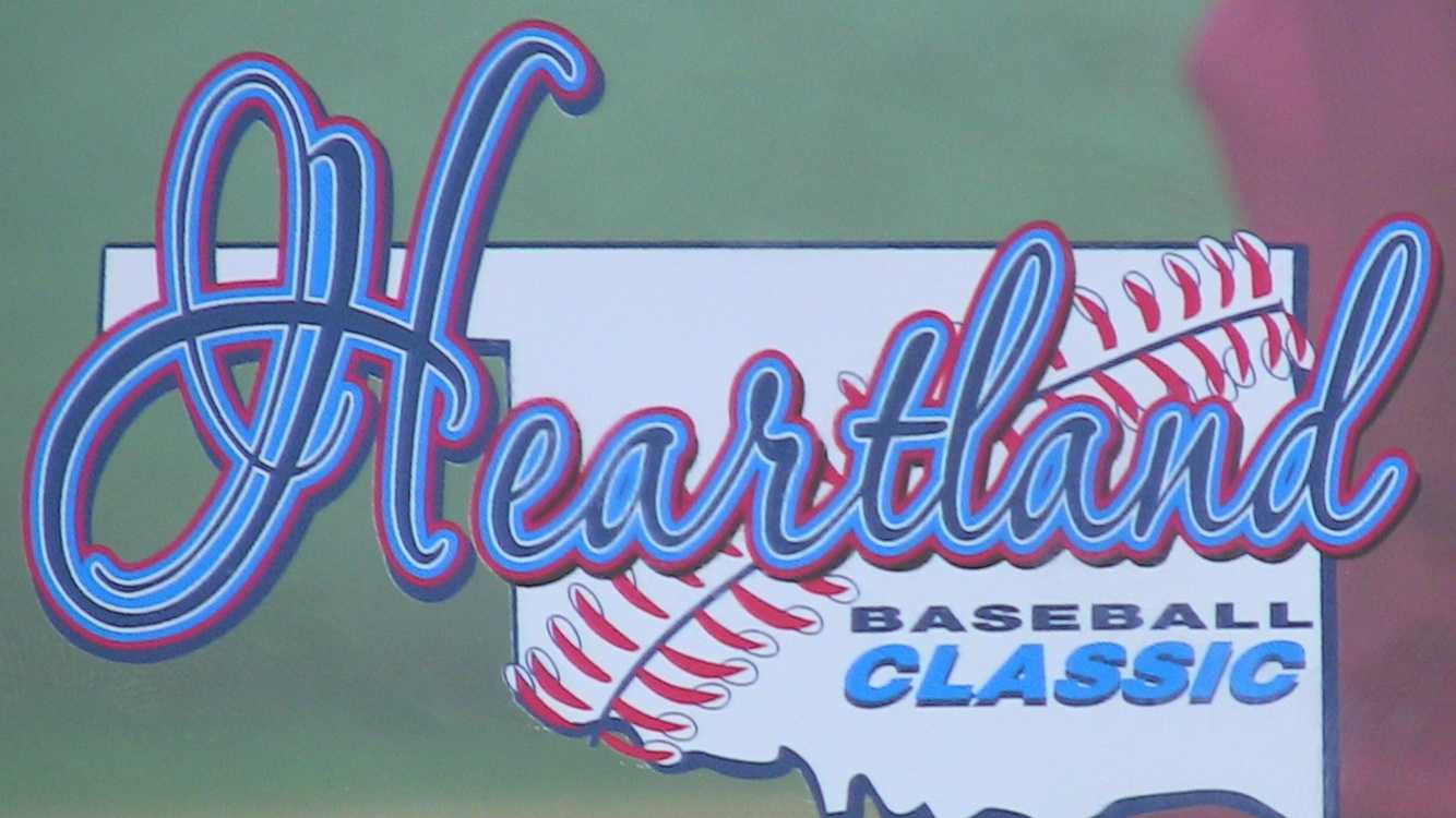 An close-up of the Heartland Baseball Classic 2012 home-run derby trophy.
