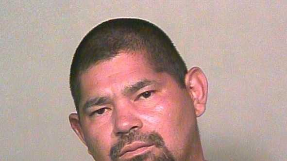 Fabian Sanchez Jr., 36, was arrested on suspicion of punching an officer in the face. Click here to read more.
