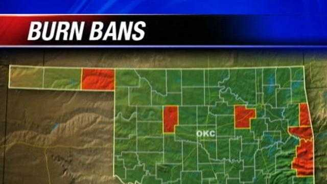 Six counties in the state are currently under burn bans.