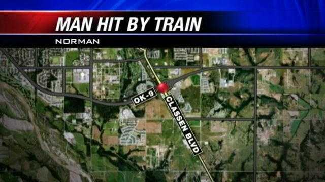 Police are investigating the death of a man killed by a train in Norman.