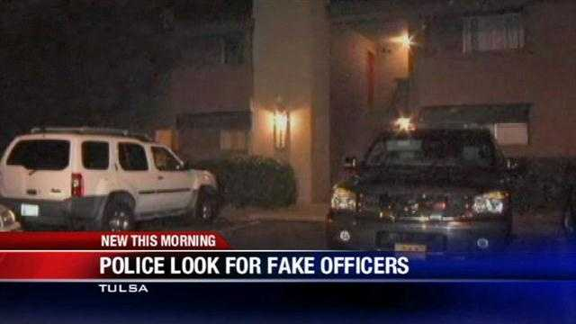 Oklahoma police are searching for fake officers Tuesday.