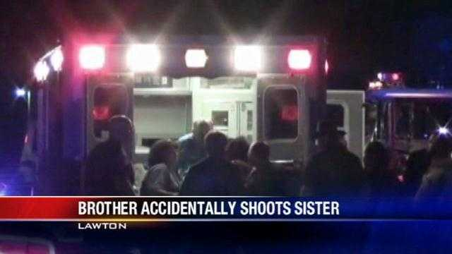 Investigators are searching for answers after a 12-year-old boy shot his sister near Lawton.
