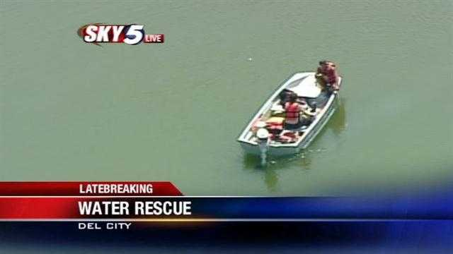 Del City crews pull van from Eagle Lake