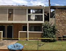 About two dozen residents are displaced in a fire at an Oklahoma City apartment complex.