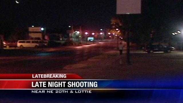 Oklahoma City police are searching for a person involved in a late-night shooting.