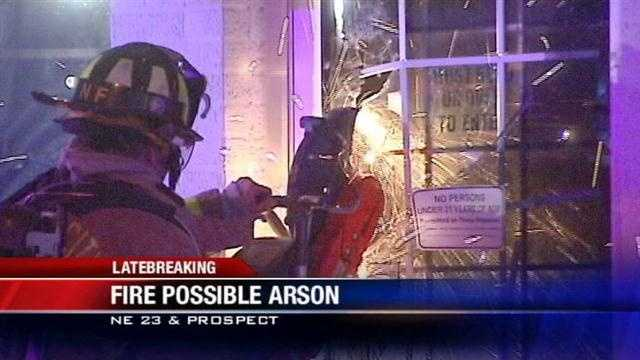 Arson investigators are looking into a fire at an Oklahoma City liquor store Tuesday.