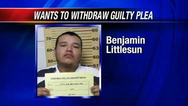 A man sentenced to life in prison for stomping a woman to death says he wants to withdraw his guilty plea.