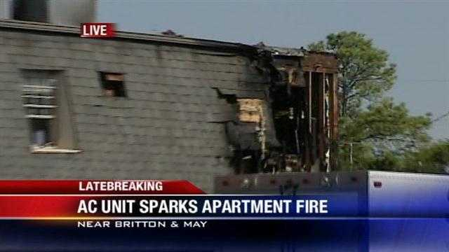 A 3-alarm apartment fire in Oklahoma City has been extinguished Wednesday.