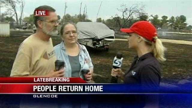 Guy and Jenny Harshbarger whose Glencoe home was destroyed by fire Saturday talks to KOCO Eyewitness News 5's Kim Passoth.