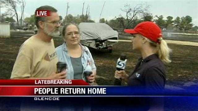 Glencoe couple describes home burned in fire