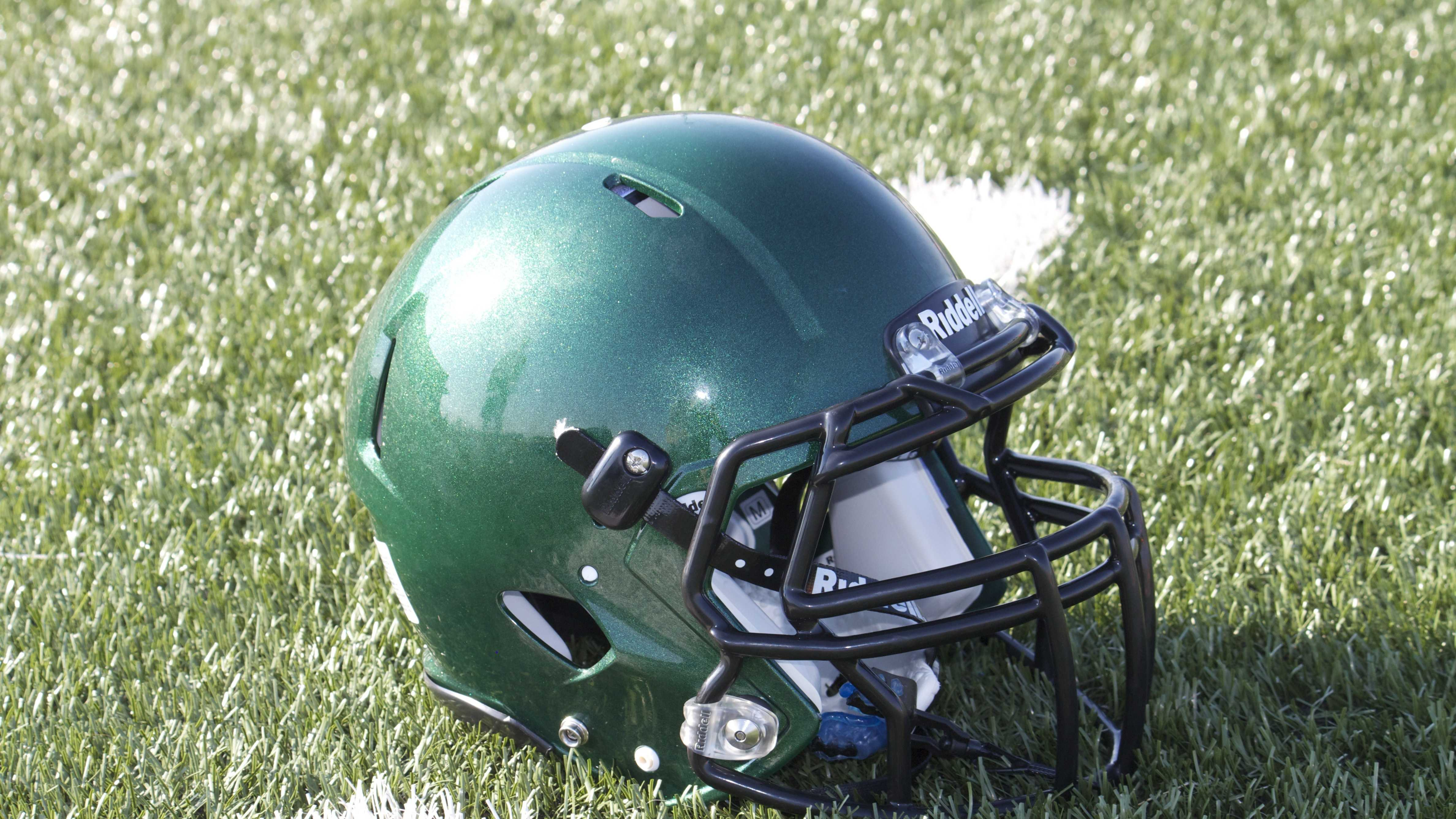 Norman North Timberwolves helmet.