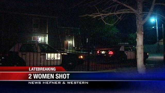 Two Oklahoma City women are recovering in the hospital Wednesday after they were both shot.