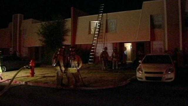 An apartment near Southwest 74th and May caught on fire at 3 a.m. Friday.