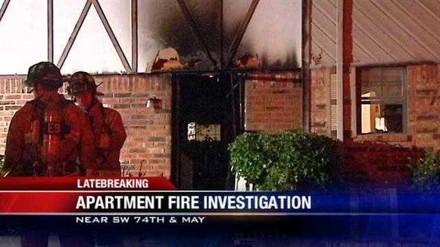 Overnight fire damages Oklahoma City apartment