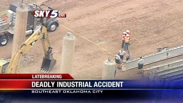 A worker was killed in an industrial accident Thursday afternoon on the southeast side of Oklahoma City, near downtown, authorities confirmed.