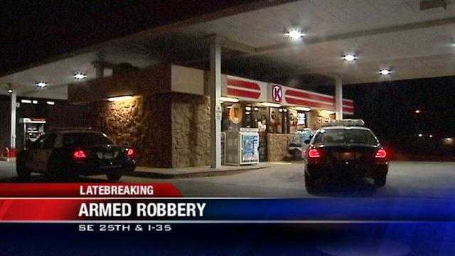 Police are searching the metro Friday for an armed robbery suspect.