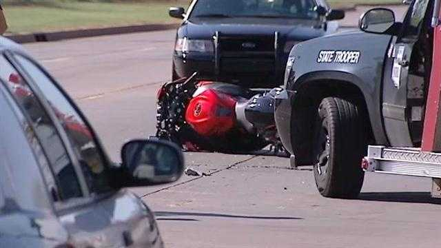 Police were called to Southeast Grand and Eastern on Tuesday morning because of a motorcycle wreck. A man was seriously hurt in the crash, police said.