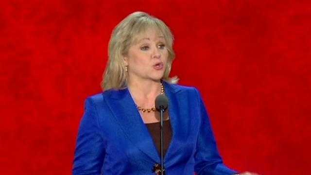 Oklahoma Gov. Mary Fallin addresses the Republican National Convention in Tampa on Tuesday night.