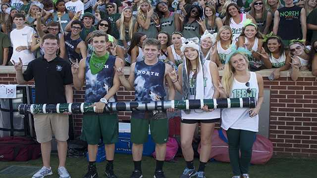 The Spirit Stick for Norman North before the pregame swap.
