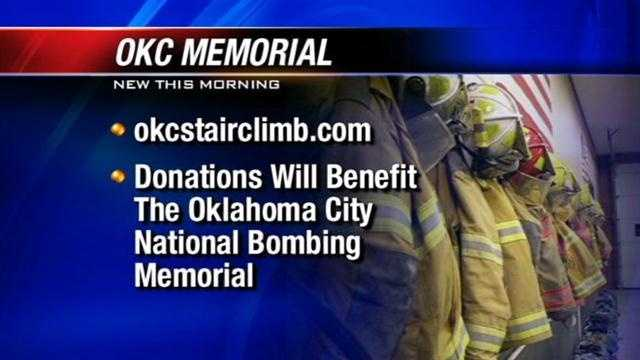 Saturday, Oklahoma firefighters will climb 110 floors to honor the 343 New York City firefighters who lost their lives in the Twin Towers. Each will hold a picture of a firefighter killed Sept 11, 2001.