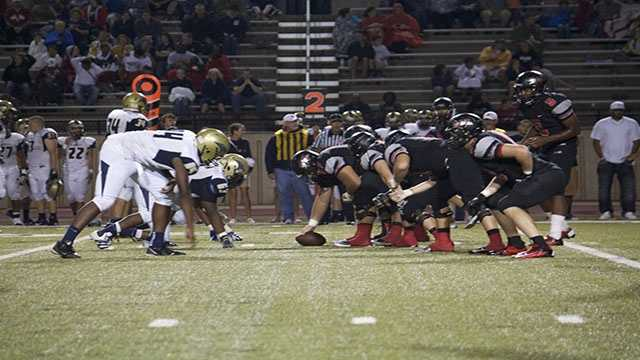 Southmoore and Westmoore are lined-up and this is the shot before they collide.